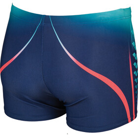 arena One Placed Print Shorts Men navy-fluo red